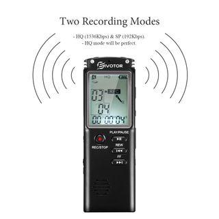 Grabadora de Voz Digital Estéreo 1536 Kbps (nueva)