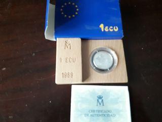 1 ECU 1989 con certificado