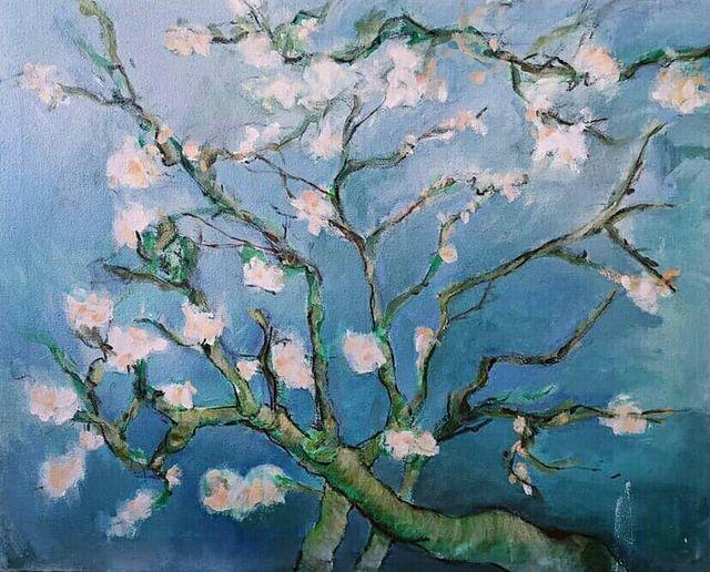 Almendro en flor lienzo Van Gogh
