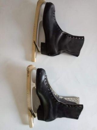Patines patinaje sobre hielo