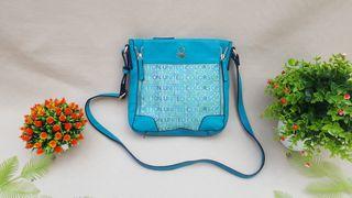 Benetton bolso nuevo de piel sintetica y lona