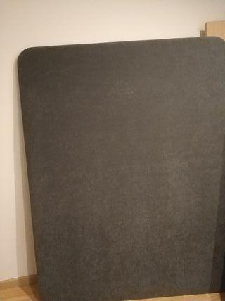 somier tapizado 150×190 como nuevo con 6 patas
