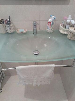 lavabo cristal esmerilado