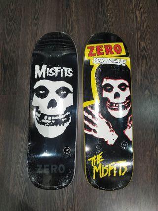 tablas de skate Zero x Misfits