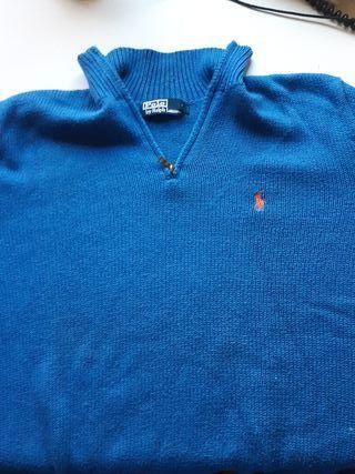 Jersey azul polo ralph lauren talla m