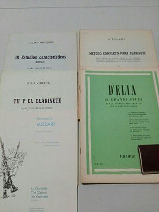 Metodos clarinete. Romero,Menendez,Vercher, d'Elia