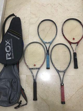 Set de raquetas de tenis