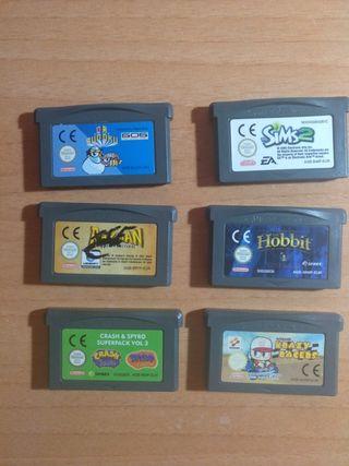 Juegos GameBoy Advance SP 5€ cada uno, 20 todos
