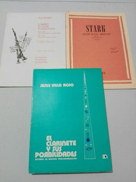 Métodos clarinete. Dangain,Stark, Villa Rojo.