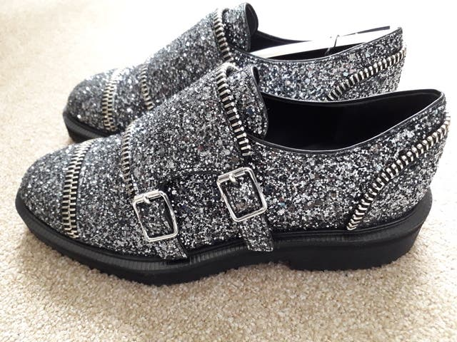 Giuseppe Zanotti buckled Glitter Loafers.