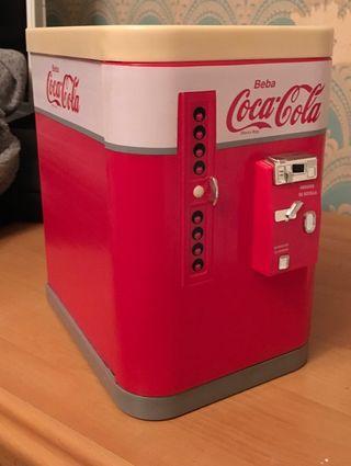 Nevera vintage de coca-cola para guardar Cd,s