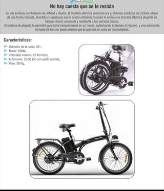 "Bicicleta eléctrica plegable 20"""