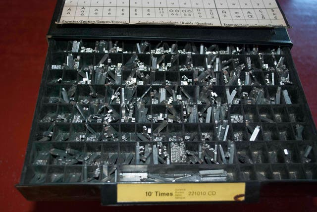 "tipografia neufville imprenta ""letterpress"""