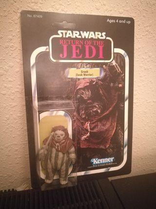 Star Wars Ewok GRAAK vintage custom blister.