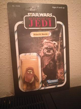 Star Wars Ewok WICKET W. WARRICK vintage en bliste