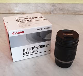 Objetivo CANON EFS 18-200 mm f3.5-5.6 IS