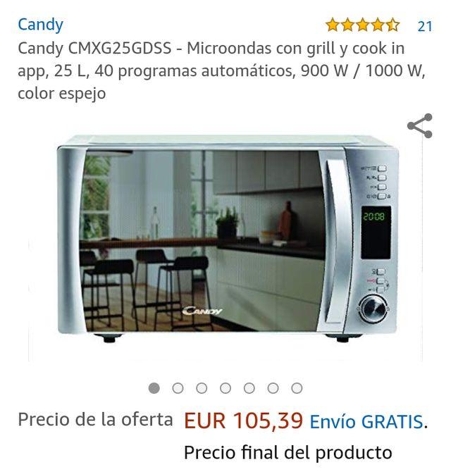 Microondas con grill (Nuevo sin caja)