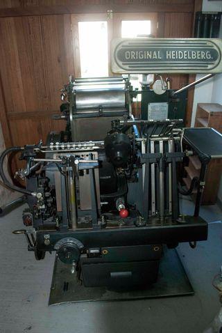 heidelberg T , minerva de aspas, imprenta