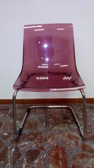 Silla TOBIAS rosa