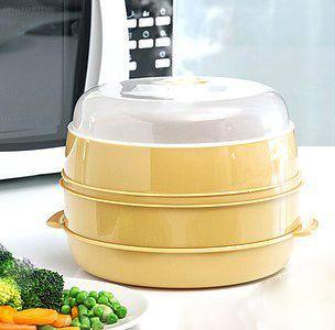 Para cocinar al vapor en microondas