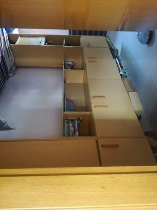 Mueble nido con 2 camas