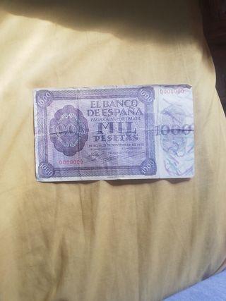 billete de 1000 pesetas año 1936
