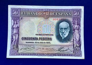 Billete 50 Pesetas 1935 EBC
