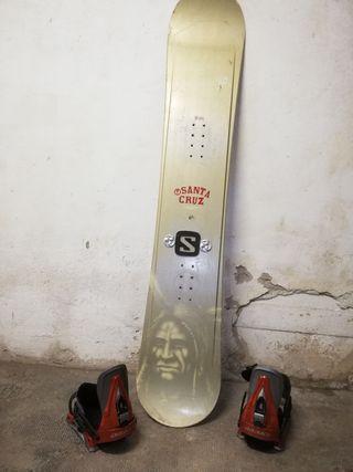 tabla snowboard Santa cruz fijaciones matriz y k2
