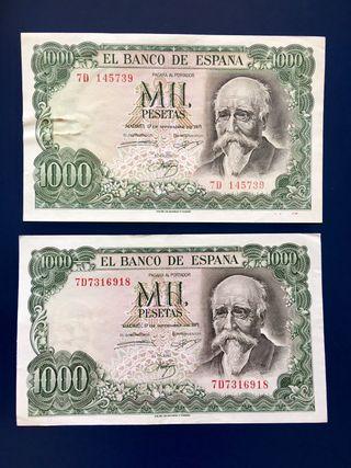 Billete 1000 Pesetas 1971 EBC.
