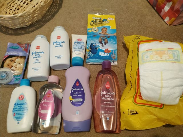 several baby products