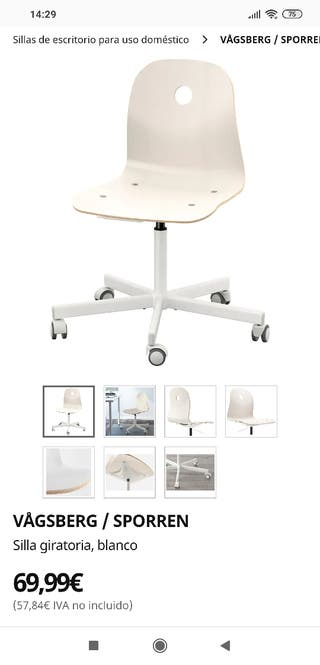 Silla de Oficina Ikea Vasgberg
