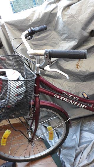 bicicleta con sillín nueva