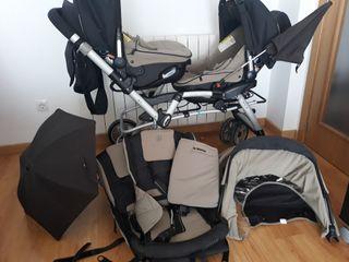 silla bebé gemelar