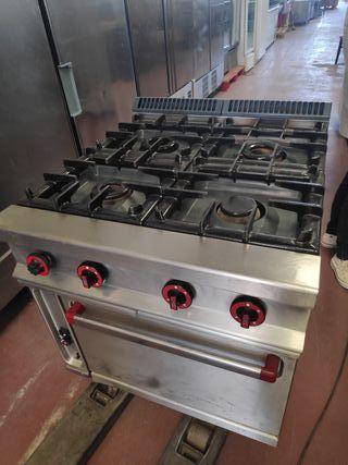 cocina repagas 4 fuegos con horno