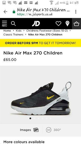 Nike Air max Trainners.