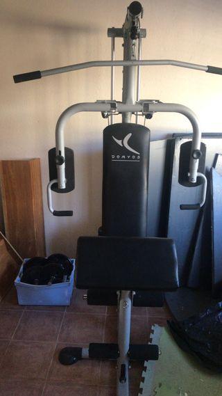 Maquina gym + pesas 230€