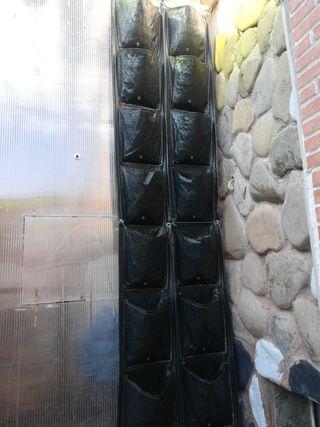jardineras verticales 8 bolsas 2 unidades