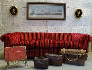 Sofá vintage tres plazas