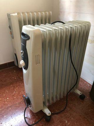 Radiadores y estufa de gas