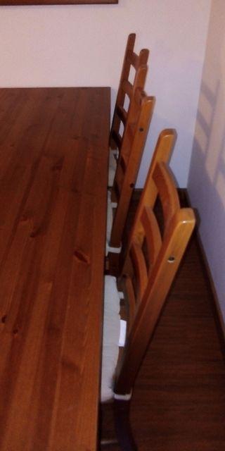 Mesa con 6 sillas i mesita de comedor