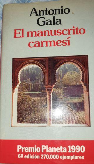 Libro.Manuscrito Carmesí, Antonio Gala