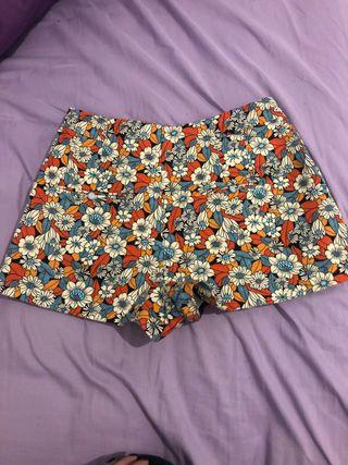 pantalón corto alto de zara