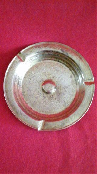 Cenicero en latón grabado - Antiguo Vintage