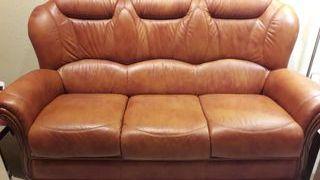 Sofa y 2 butacas de piel