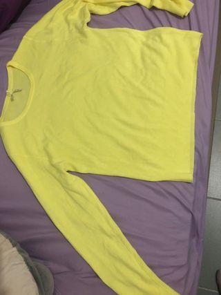 pullover amarillo 1solo lavado