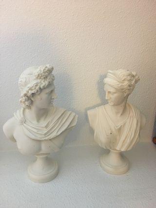 Figuras blancas de marmolina
