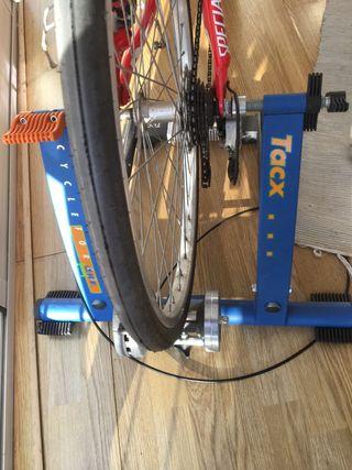 Rodillo de práctica Bicicleta + Rueda lisa