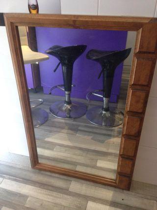 Espejo rústico en madera