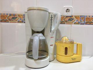 Cafetera Bosch y exprimidor eléctrico