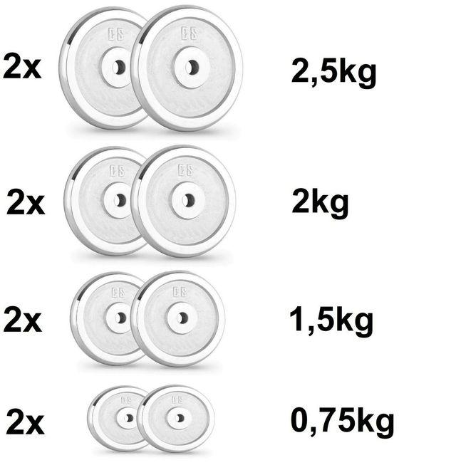 Mancuernas Pesas de disco 15+15 30kg